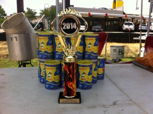 Trophy from 1st Annual Ascension Crawfish Boiling Contest