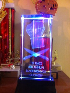Award from Blackpot cook off
